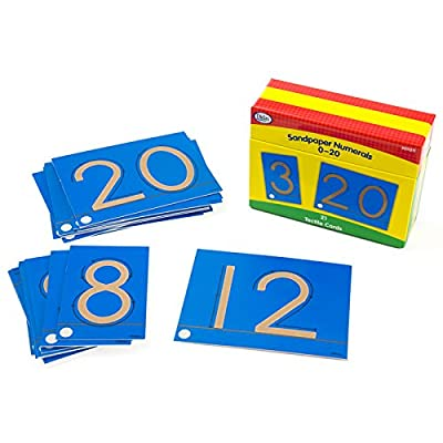 Didax Educational Resources Sandpaper numerals 0-20 Cards: Toys & Games