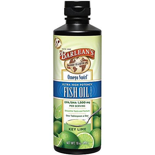 High Potency Dha - Barlean's Key Lime Ultra High Potency Fish Omega Swirl, 16 Fl. Oz. 2 Pack