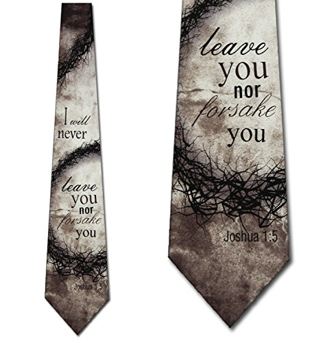 Forsake You Religious Ties Inspirational Mens Necktie