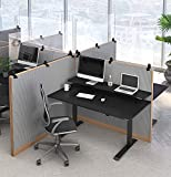 Stand Steady Clear Cubicle Wall Extender | Single