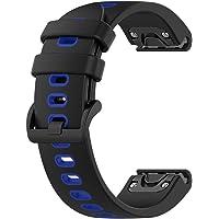LOKEKE for Garmin Fenix 6S Pro Replacement Wrist Band - 20mm Replacement Silicone Wrist Watch Band Strap for Garmin…