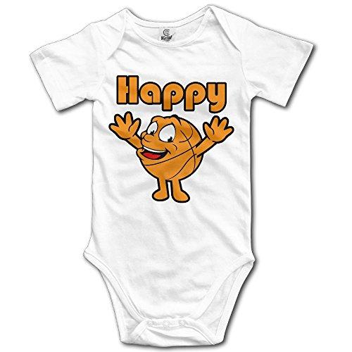 LWI DIW Happy Basketbal Newborn Baby Boys Girls Cute Short-Sleeve Bodysuit Romper Outfits