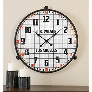 industrial wall clocks for sale retro clock metal cage vintage style digital canada