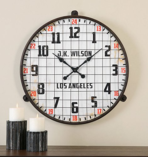 Retro Industrial Wall Clock | Metal Cage Vintage Style