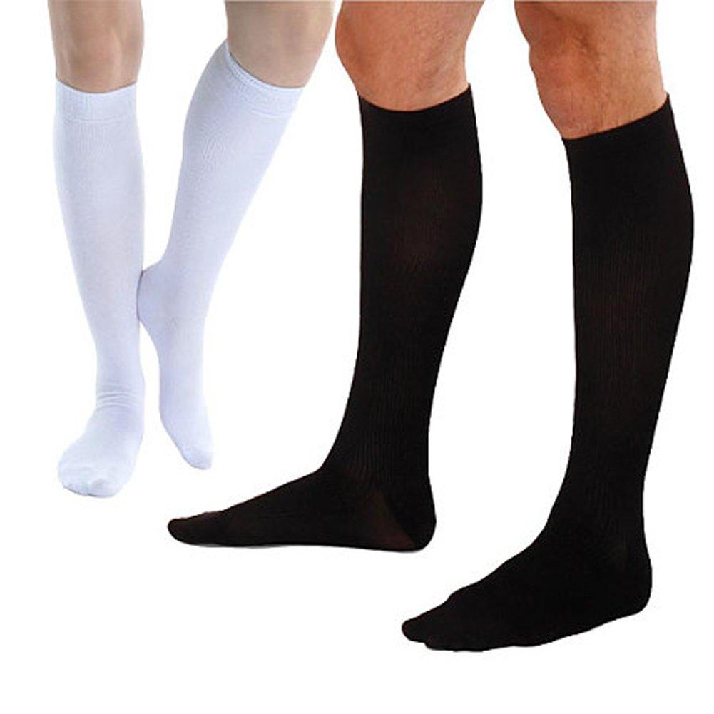 Black and White TULIPTREND Men's Sexy Athletic Silk Tube Socks, Pack of 2