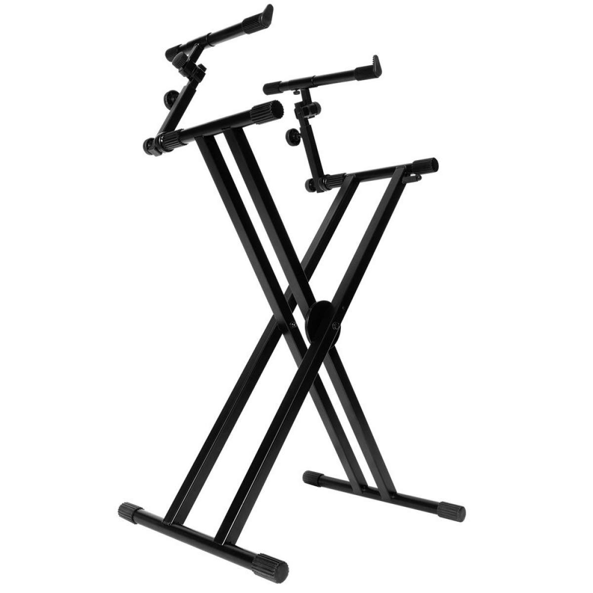 On-Stage KS7292 Double-X Ergo Lok Keyboard Stand with 2nd Tier