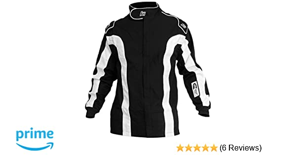 Black//White, 4X-Small K1 Race Gear Triumph 2 Single Layer SFI-1 Proban Cotton Fire Suit