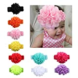 EsTong Baby Girls Elastic Handband Chiffon Flower Hair Accssories For Newborn Toddler And Kids 10Pcs Review