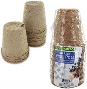 Biodegradable Peat Pots Set (3 Pack)