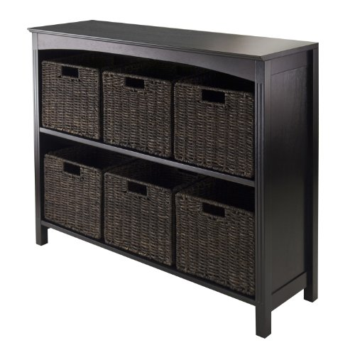 Winsome Terrace 7-Piece Storage Shelf/Bookcase, 37 by 11.8 by 30-Inch - 7 Piece Espresso Finish