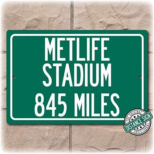 fbd46b01 Amazon.com: Personalized Highway Distance Sign To: MetLife Stadium ...