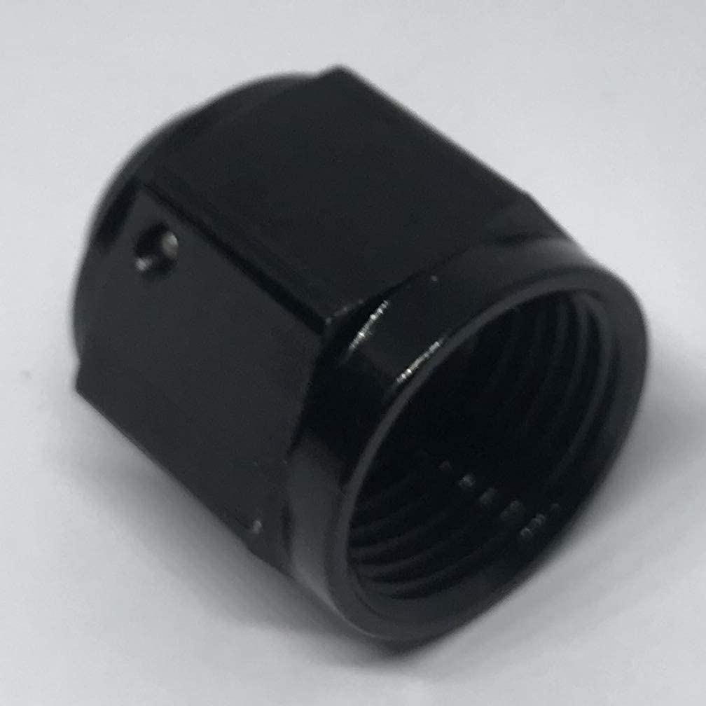 Flare Cap 8AN Aluminum Female Swivel AN 8 Hose Fitting Hex Head Plug Nut Port Adapter Black