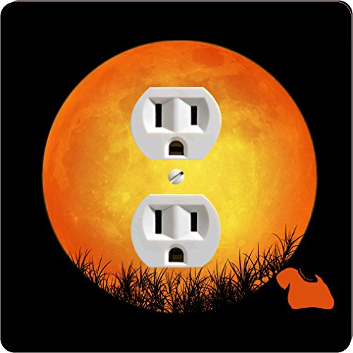 Rikki Knight 41318 Outlet Sealyham Terrier Dog Silhouette By Moon Design Outlet Plate