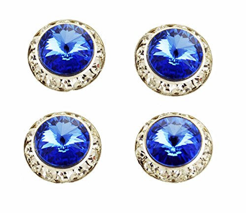Horse Jewelry Pin (Horse jewelry magnetic contestant show number pins swarovski sapphire crystals set of 4)