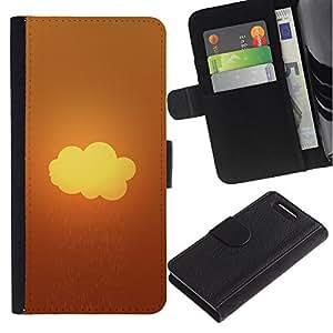 // PHONE CASE GIFT // Moda Estuche Funda de Cuero Billetera Tarjeta de crédito dinero bolsa Cubierta de proteccion Caso Sony Xperia Z3 Compact / Rainy Cloud /