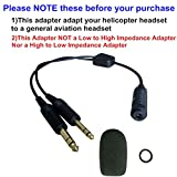 UFQ H-GA Helicopter to General Aviation Headset Adapter adapt your helicopter headset to a general aviation free with super high density sponge O ring which suit for David Clark, Avcomm,ASA and ect on