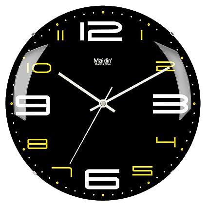 Wall Reloj Clock Estar Cuarzo Redondo Borde Sala Sin De TKFclJ1