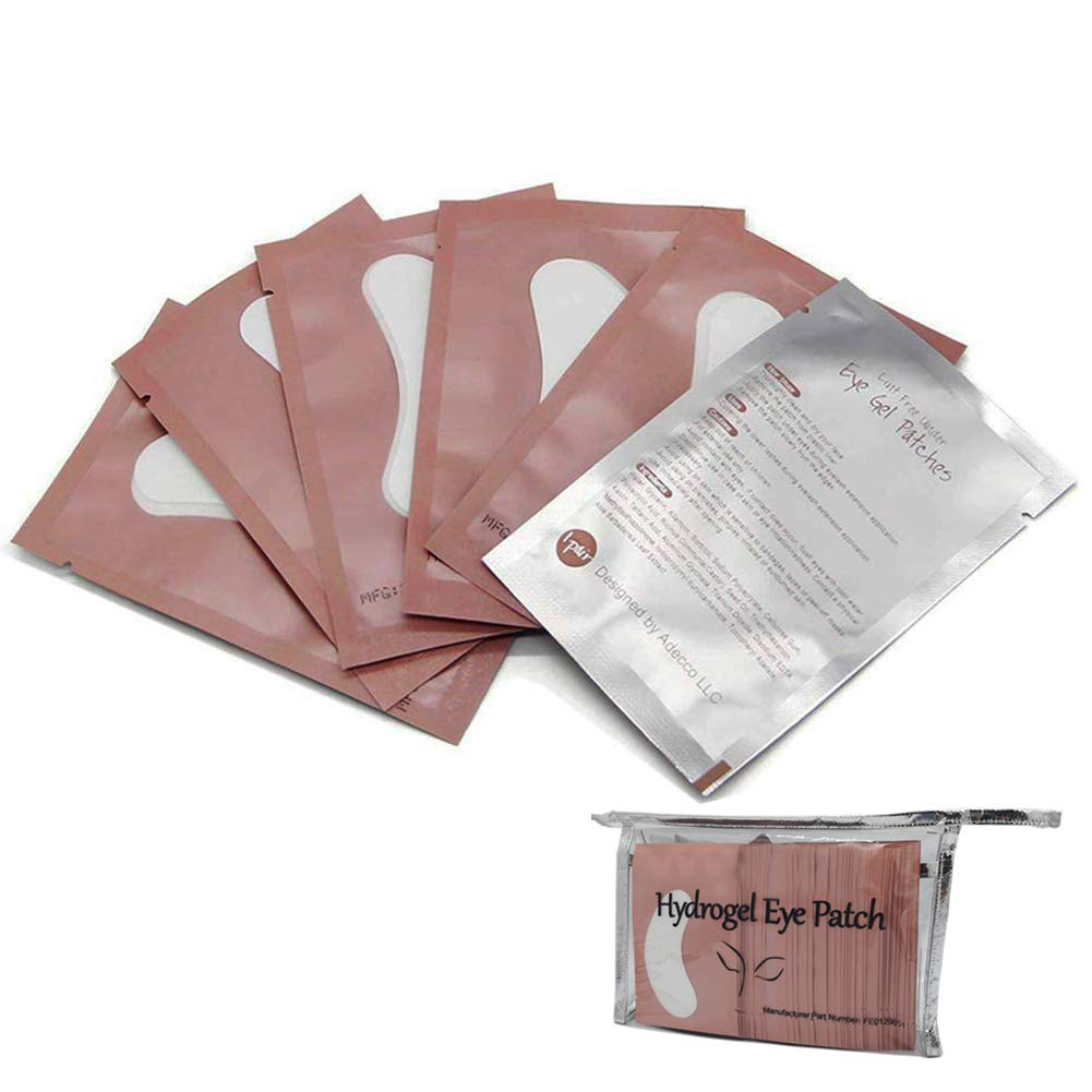 100 Pairs Under Eye Gel Pads Hydrogel Eye Patches for Eyelash Extension -100% Natural Lint Free DIY Lashes Extension Supplies(Pink)