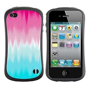 "Pulsar iFace Series Tpu silicona Carcasa Funda Case para Apple iPhone 4 / iPhone 4S , Pink Blue Blur Resumen Clean pintura"""