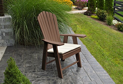 BEST POLY WOOD ADIRONDACK CHAIR PORCH FURNITURE & PATIO SEATING, Upright Design for Stylish Outdoor Living, Perfect for Front Entry & Back Yard, Fire Pit & Pool Side, Fun Color Choices(Chocolate) (Ballard Design Outdoor Furniture)