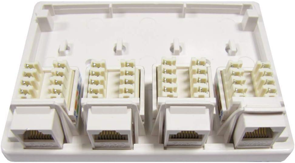 BeMatik Bo/îte de surface de 4 UTP RJ45 Cat6
