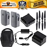 Cheap DJI Fly More 2 Battery Accessory Bundle for Mavic Includes Case, Car Charger, Charger Hub, Power Bank Adapter and Extra Propellers