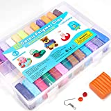 ifergoo Polymer Clay, 26 Colors Oven Bake Modelling Clay, DIY Colored Clay Kit with Modeling Tools, Tutorials and Accessories 20g Each Block