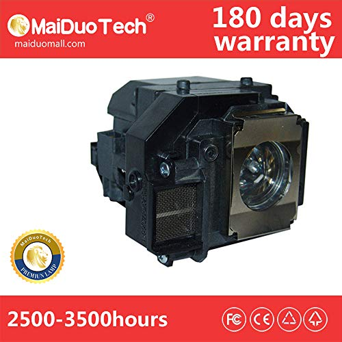 MaiDuoTech Replacement Compatible Projector Lamp Bulb for Epson V13H010L58/ELPLP58 with Housing for Home Cinema PowerLite X9/ S9 1220 Projectors