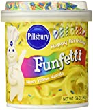 Pillsbury, Funfetti, Neon Yellow Vanilla Frosting, 15.6oz Tub (Pack of 3)