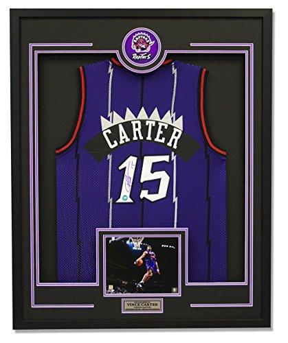Carter Basketball Vince (Vince Carter Autographed Jersey - Rookie 30x34 Framed - Autographed NBA Jerseys)