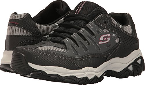 - Skechers Men's AFTER BURN M.FIT Memory Foam Lace-Up Sneaker, Charcoal/black, 12 M US