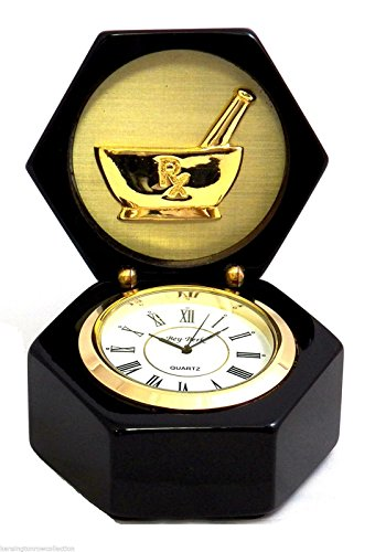 KensingtonRow Home Collection Clocks - Pharmacist Desktop Clock - Medical - Medicine - - Clock Kensington Table