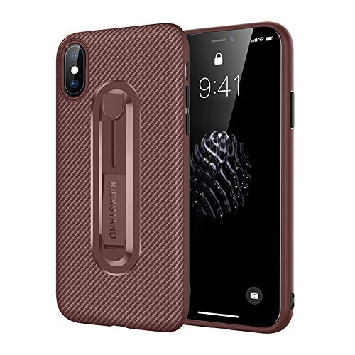 the best attitude d3071 60b6d iPhone XR Case with Kickstand – Apple iPhone XR Protected Brown Case Speck  – Full Body iPhone XR Protective case – iPhone XR Accessories (XR, ...