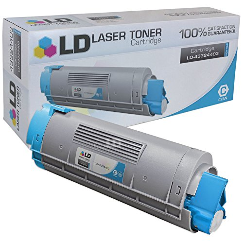 43324403 High Yield Toner (LD Compatible Replacement for Okidata 43324403 (Type C8) High Yield Cyan Laser Toner Cartridge for use in Okidata OKI C5500n, C5650dn, C5650n, C5800, C5800Ldn, and C5800n Printers)