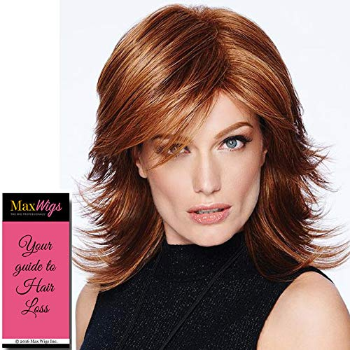 (Modern Flip Wig Color R11S+ GLAZED MOCHA - Hairdo Wigs Mid-Length Layered Shag Sweeping Fringe Tru2Life Heat Friendly Synthetic Bundle MaxWigs Hairloss Booklet)
