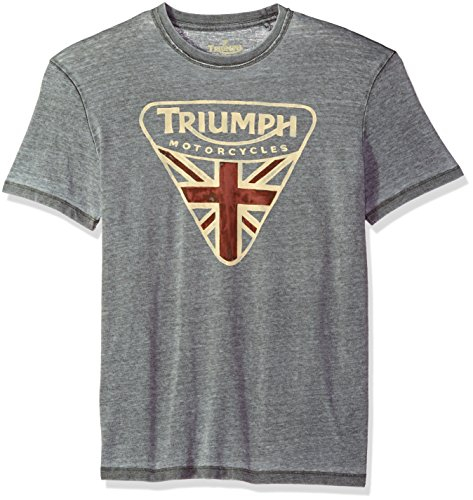 Lucky Brand Men's Triumph Badge Graphic Tee, Black Mountain, M