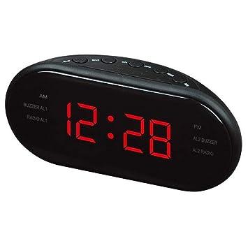 QZTG Despertador Digital Función De Snooze del Reloj del Escritorio del Despertador De Escritorio Electrónico De La Radio del Reloj De Am/FM Led: Amazon.es: ...