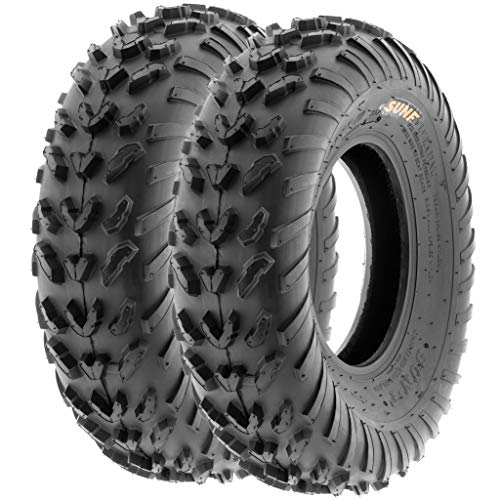 (Pair of 2 SunF A007 20x7-8 ATV UTV Sport-Performance Tires, 6 PR, Tubeless)