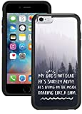 img - for iPhone 6S Case, iPhone 6 Case - My God is Not Dead lion woods Clear transparent designer hybrid case cover with drop protection - Unique Cool Cute Trendy Case by OptiCase book / textbook / text book