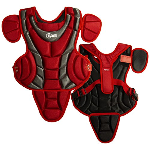 TAG Pro Series Youth Body Protector, Scarlet/Grey ()
