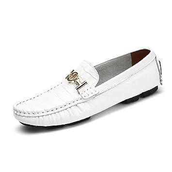 330276f3769d5 HhGold Zapatos de Cuero para Hombre Primavera Otoño Confort Suelas Ligeras  Zapatillas de Deporte Mocasines y Zapatillas sin Cordones Zapatos de ...