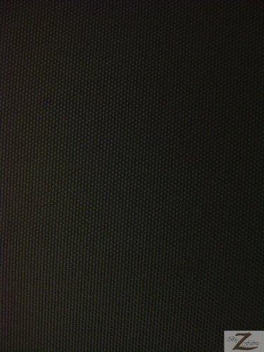 SOLID OUTDOOR FABRIC (WATERPROOF/ANTI-UV) - Black - DUCK VINYL 60