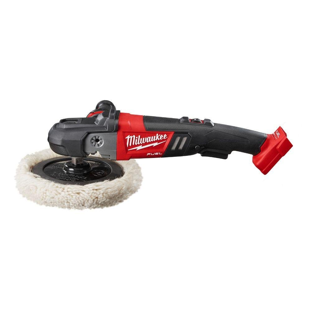 Milwaukee M18 18-Volt FUEL Lithium-Ion Brushless Cordless 7 in. Variable Speed Polisher (Tool-Only) | Hardware Power Tools for Your Car or Jobsite Needs by Milwaukee