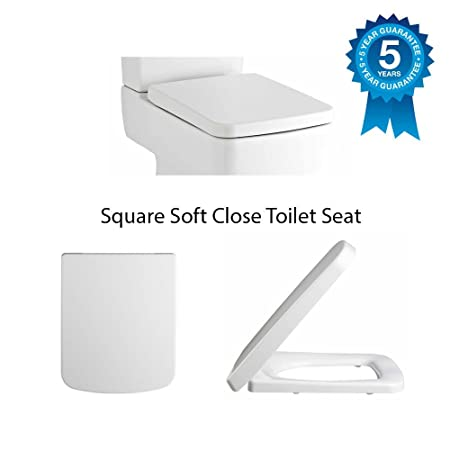 square toilet seat uk. Premier Heavy Duty Square Modern Spare Replacement Toilet Seat Soft Close  White NCH198