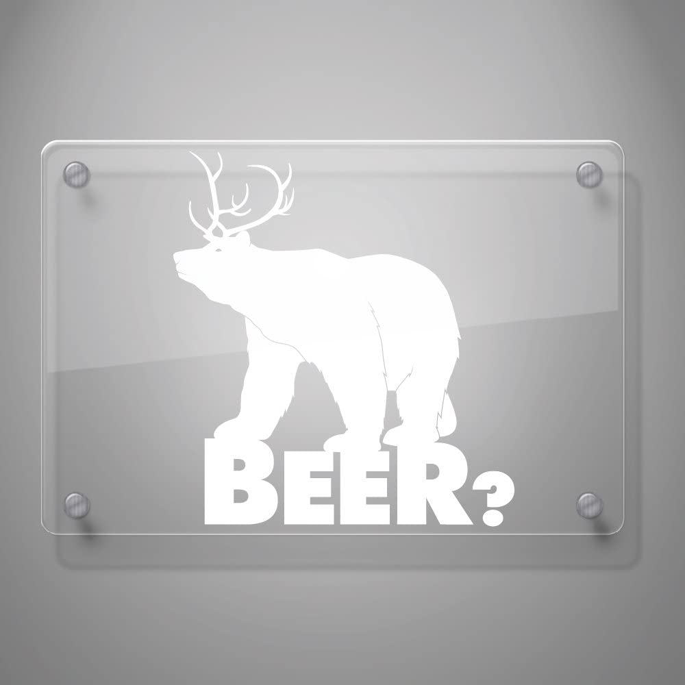 Mirror and More # 454 Mirror and More 6 x 5.5, Red Motorcycle Walls 6 x 5.5 # 454 Laptop A Bear and Deer Sticker Combo for Car Window Yoonek Graphics Beer? Decal Sticker