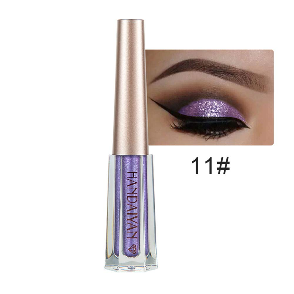 1 Pcs Makeup Glitter Liquid Eyeshadow Waterproof Long Lasting Metallic Eye Cosmetic 12 GRAPEER
