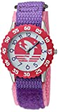 eWatchFactory Girl's 'Shark Week' Quartz Stainless Steel and Nylon Sport Watch, Color Purple (Model: WDC000108)