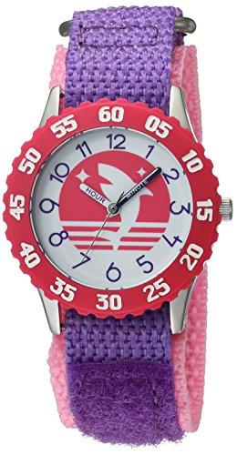 eWatchFactory Girl's 'Shark Week' Quartz Stainless Steel and Nylon Sport Watch, Color Purple (Model: WDC000108) by eWatchFactory