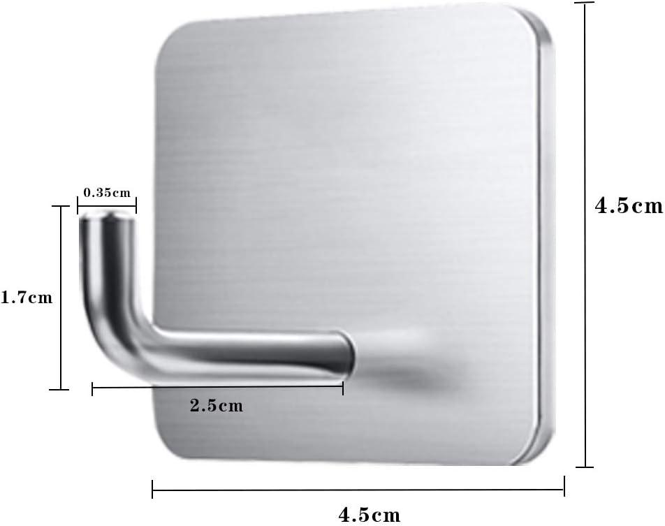 USBNOVEL Kitchen Bathroom Adhesive Wall Hooks