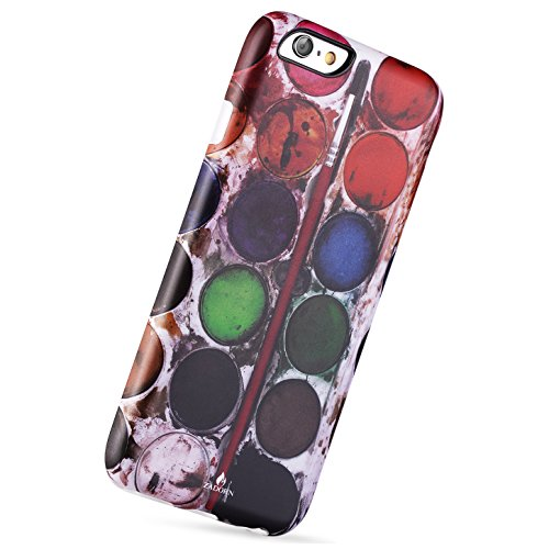 iPhone 6 Case,ZADORN Glamour Serious Soft Phone Case Palette Design,IMD Full Covered TPU Case for iPhone 6 6s 4.7 inch only (Palette-019)